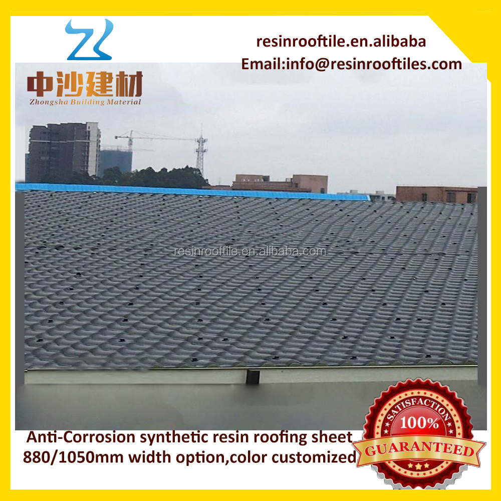 Plastic Roofing Sheet Synthetic Resin Roof Tiles For