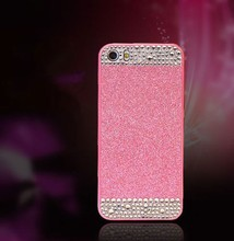 Dimond shining hard plastic cell phone case for Iphone 6, bling PC phone cover paypal