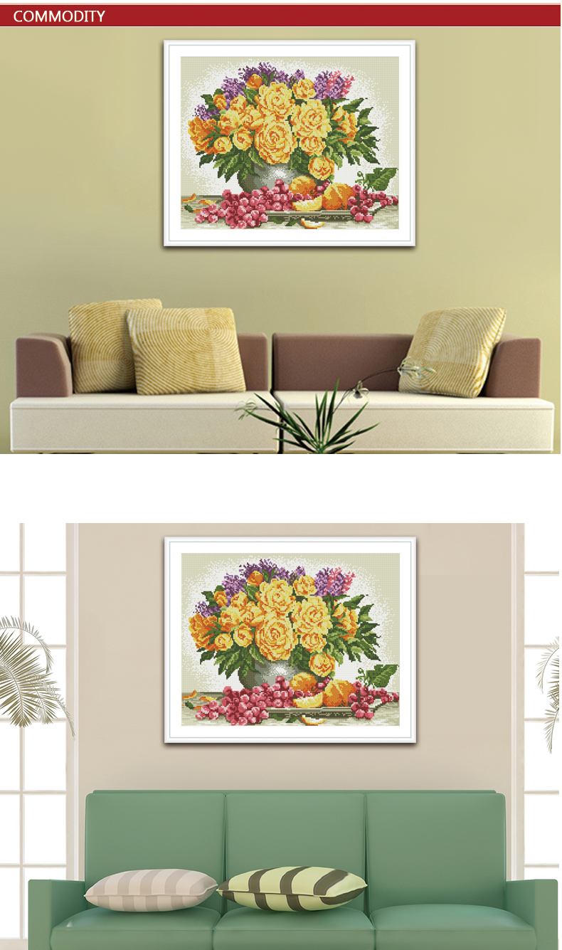 DIY diamond painting red flower picture yiwu Manufacturer BZ001