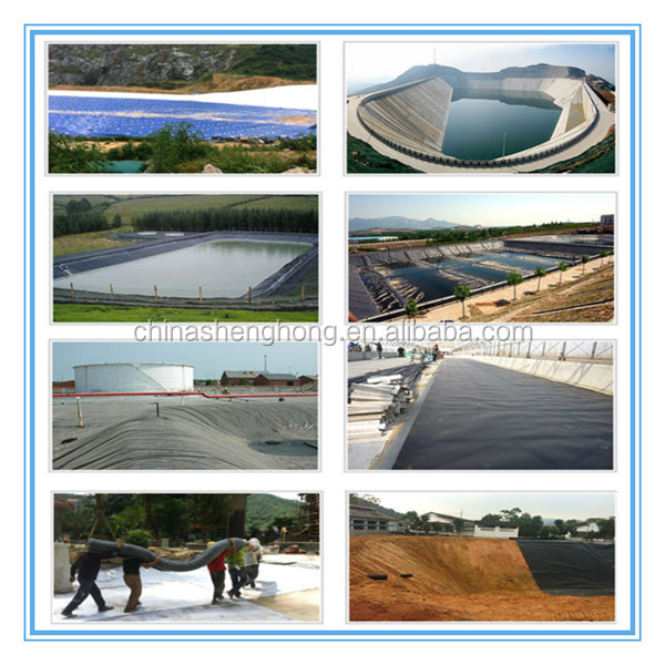 Haut polym re poly thyl ne membrane d 39 tanch it geo for Construction piscine geomembrane