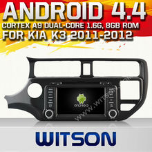 WITSON Android 4.4 car dvd for KIA K3 2012 WITH CHIPSET 1080P 8G ROM WIFI 3G INTERNET DVR SUPPORT