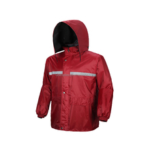 OEM factory price customized polyester pongee PVC reflective safety raincoats