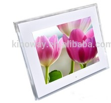 Top supplier providing 12inch 1024*768 Acrylic desktop Photo Frame with LED Light
