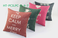 Decorative pillow, Sofa Car Keep Calm Throw Pillow Case Linen Fabric Print Cushion Cover On Checkout Wholesale