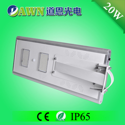 20W IP65 long lifespan integrated all in one solar led street light cristal rounded ceiling led light