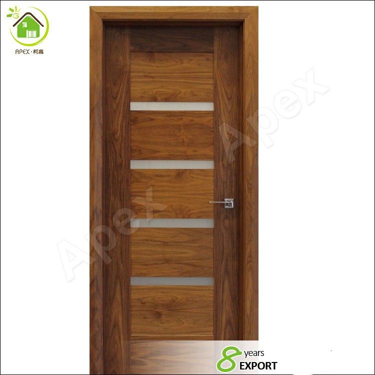 Red Oak Solid Wood Interior Doors Prehungcontemporary 5 Lite Mist