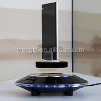 Max load 500 auto free rotation UFO base magnetic floating cell phone retail display stands