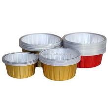 Aluminum Foil Dessert Container with Plastic Lids