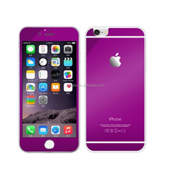 Colorful Mirror Tempered Glass Screen Protector For iPhone 6 & 6 Plus