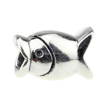Wholesale Authentic 925 Sterling Silver Charm Hungry Fish For European Bracelet