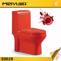 5002R populat item washdown/siphonic one piece bidet red colored toilet