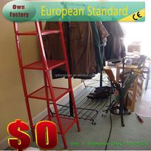 Casual Home furniture 4 Shelf Ladder Bookcase, red