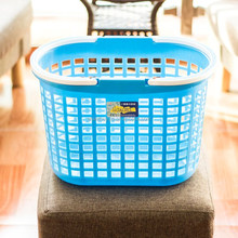 PP oval plastic laundry basket with handle