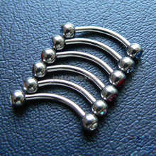 Surgical Stainless Steel Body Jewelry Eyebrow Nose Labret Lip Ring Tongue Piercing Tragus Cartilage Earring