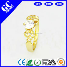 Fashion Shape Gold Plated Ring,Gold Jewelry