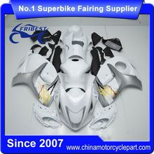 FFKSU013 China Fairings Motorcycle For GSX R1300 GSXR1300 For Hayabusa 2008-2014 White And Gre With Tank Cover
