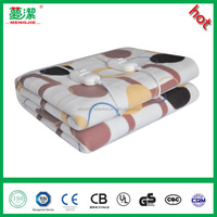 Plush Fleece+Polyester Double Controllers Electric Heating Blanket