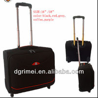 "Business design 1680D fabric 16"" trolley laptop bag"