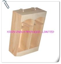 Natural Color Wooden Wine Case For 2 bottles YIXING2650