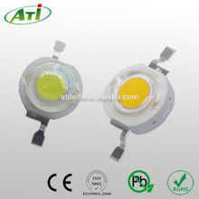 1w yellow high power led, 120~140LM, 3 years guarantee time, RoHs approved