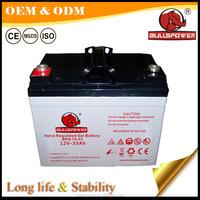 GEL battery 12V33AH 12v solar panel internal battery for Solar Mobile Tower Lights