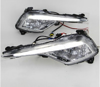 DLAND 2013 SONATA 8 SPECIAL LED DAYTIME RUNNING LIGHT FOG LAMP DRL, WITH YELLOW TURN SIGNAL, FOR HYUNDAI