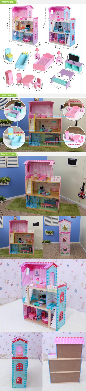 Td004 stilvolle miniatur puppenhaus möbel für kleine mädchen ...