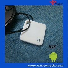 Bluetooth 4.0 Tag Thinnest iBeacon smart key finder with hanging