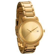 Vogue women stainless steel gold watch customized logo