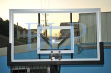 China Guangdong Aluminium Steel Frame Glass Basketball Backboard