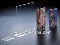 acrylic double side paper insert sign holder wholesale