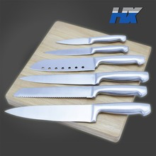 6pcs Hollow handle stainless steel kitchen knife set