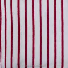 knitting red white stripe coral fleece fabric for clothing