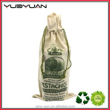 2015 Factory customized large cheap promotional food grade cotton canvas bag drawstring