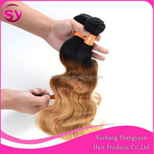 SY 2015 3 Tone Colored Brazilian Hair Weave, Wholesale Brazilian Hair Weave Bundles
