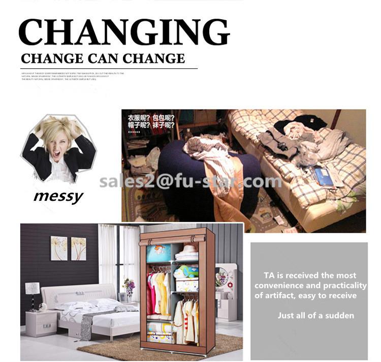 Pn FUJIAN fournisseur assembler chambre meubles ikea pliage portable garde - robe de tissu