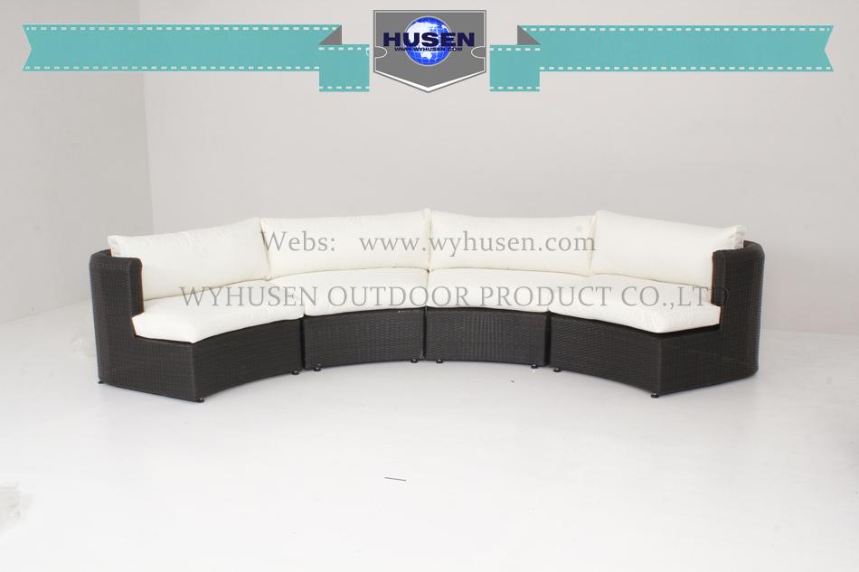 Rattan contracted leisure semicircle sofa set