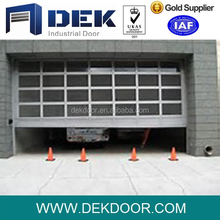 Security Sectional Automatic Door Glass Overhead Door for Car Shop