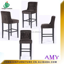 2015 Wood Bar Chair Used High Grade Full Soild Wood To Be Finished,French style high quality wooden dining bar chair