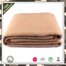 Wholesale cheap super soft 100% army wool blanket