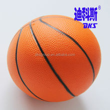 "Custom PU Foam Basketball,Mini 5"" Toy Ball,Orange Basketball Balls"