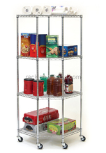 NSF Certificate Chrome Metal Shelving Price Supermarkets Store Shelf