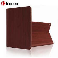 Purple wood lacquer thin hot selling smart leather case for ipad