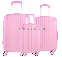 ABS 3 pcs set eminent horse print luggage hard shell spinner luggage animal print luggage