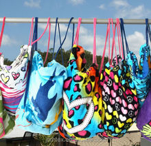 High quality printing 100% cotton beach towel bag wholesale China