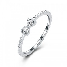 Cr274 China de fábrica directo venta al por mayor Moonstone anillo de plata