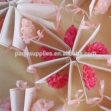 Hermosa mesa decoraciones mini-tejido de papel pom poms para decoraciones de la boda