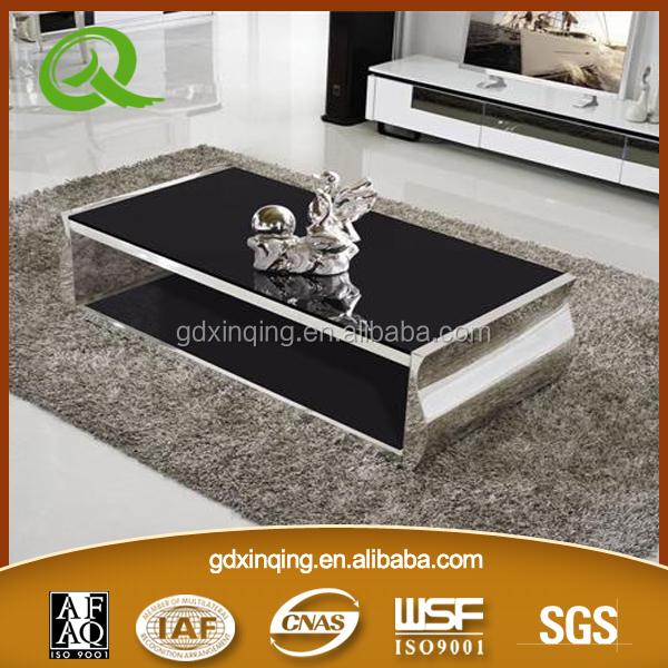 Tea Table Design Modern New : Decoration Furniture Tempered Glass Top Modern Design New Tea Table ...
