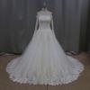 New model 2015 long sleeves muslim bridal wedding dress