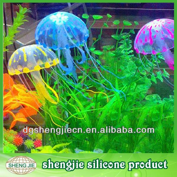 China fabricación de silicona de peces de acuario, natación'jellyfish' construido, artificial de medusas